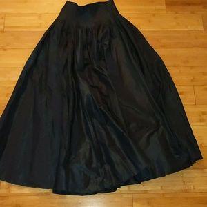 Rickie Freeman formal black maxi skirt 6